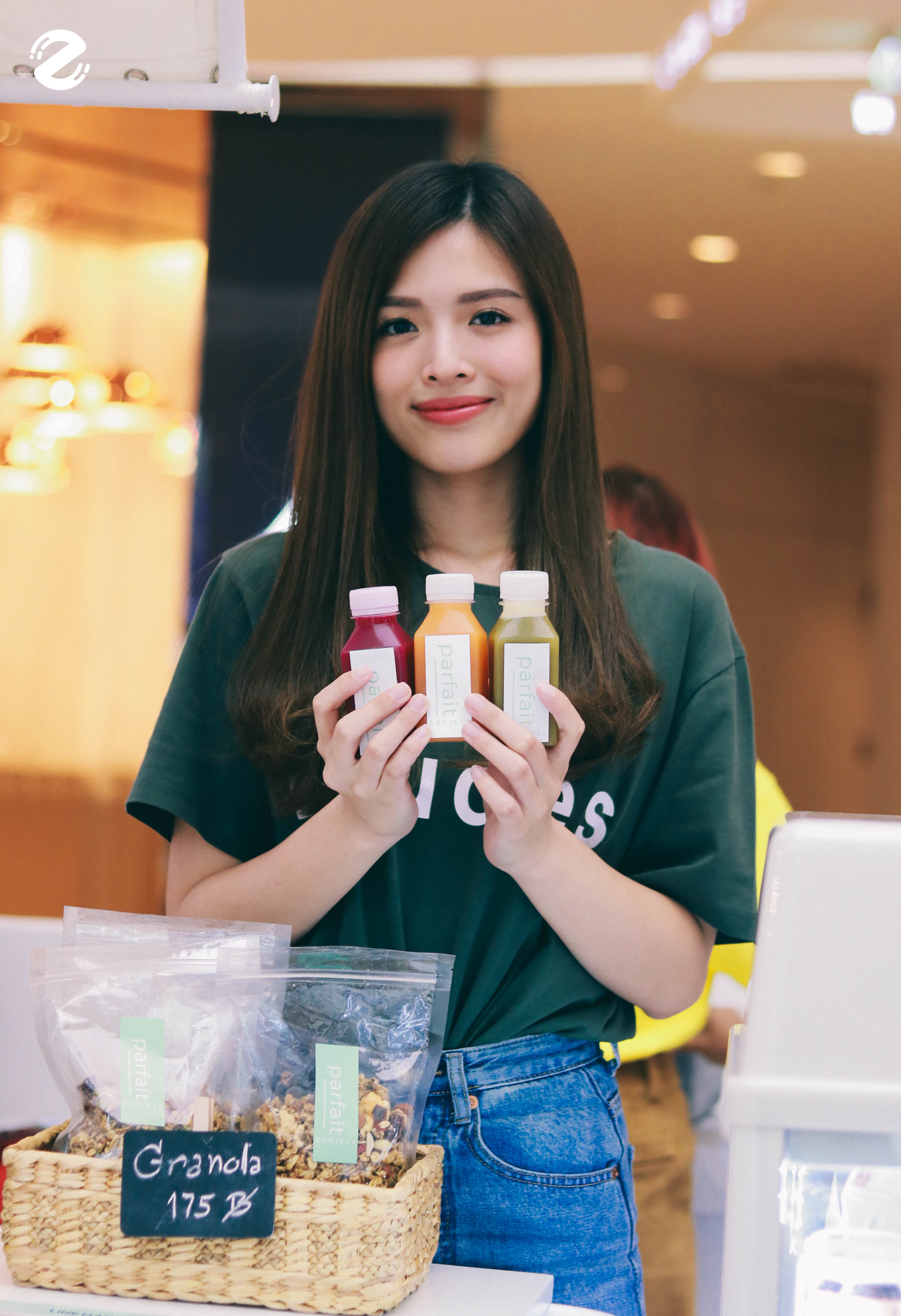 Jaja with her Cold-pressed