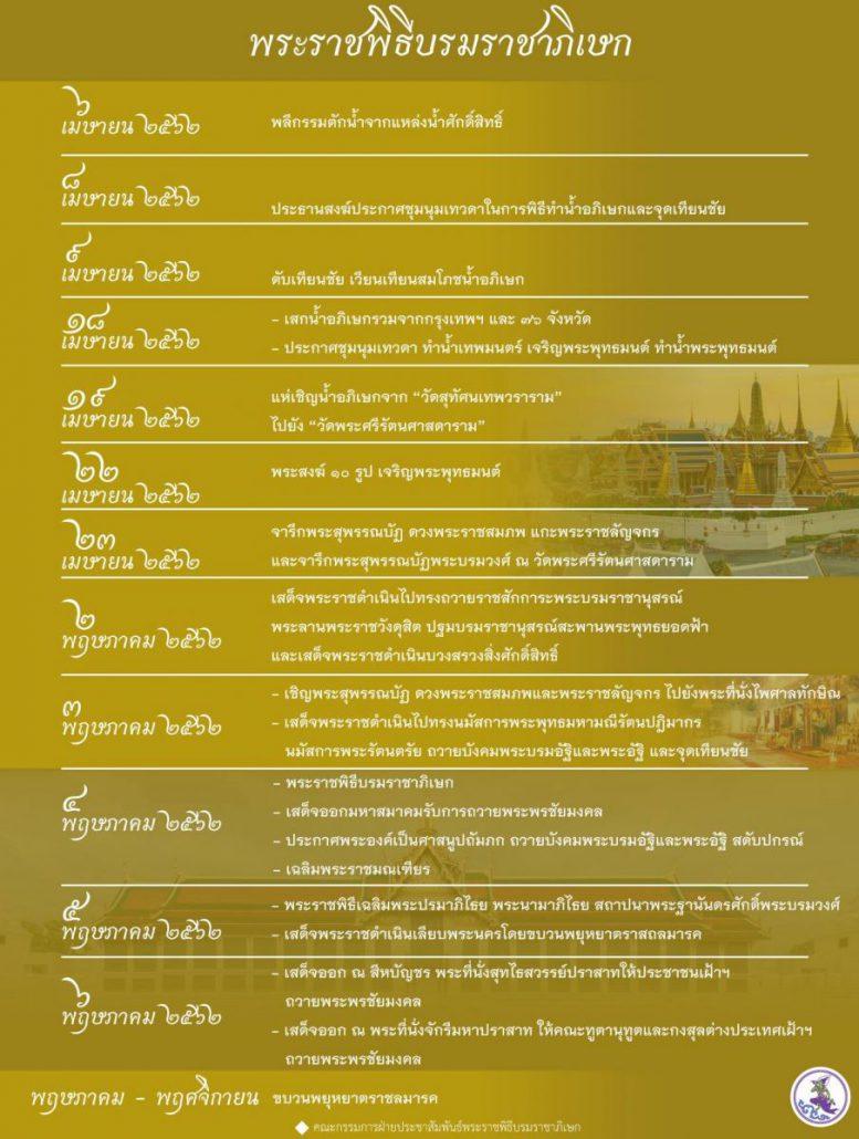 พระราชพิธีบรมราชาภิเษก พุทธศักราช ๒๕๖๒