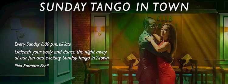 Sunday Tango in town at Rizzoli (From 08:00 pm to till late)