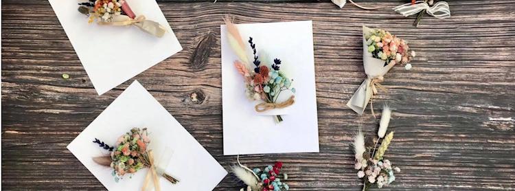 DIY Mini Floral Card โดย Bouquet Floral Studio
