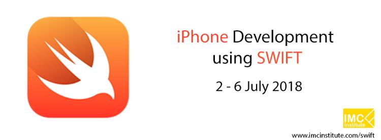 หลักสูตรสำหรับนักพัฒนา iPhone using SWIFT วันที่ 2 - 6 กรกฎาคม 2018